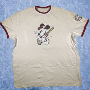 Disney Parks Mickey Mouse Baseball T-Shirt Size XL